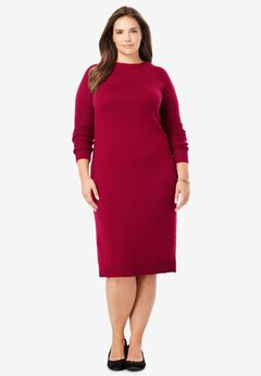 Side Button Sweater Dress,