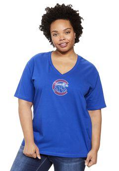 MLB® V-neck cotton tee , CUBS, hi-res