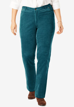 Corduroy Straight Leg Stretch Pant, MIDNIGHT TEAL