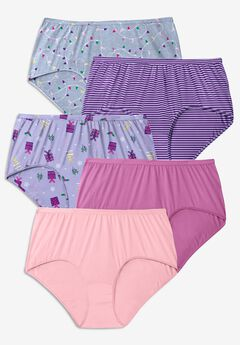 5-Pack Pure Cotton Full-Cut Brief by Comfort Choice®, LIGHTS PACK