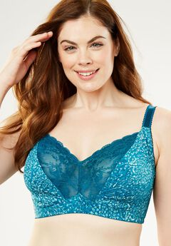 Lace-trim Wireless Bra by Amoureuse,
