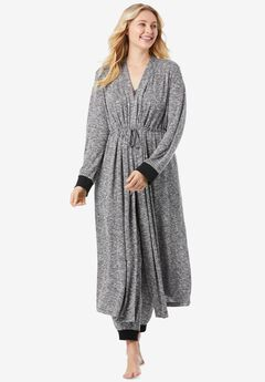 Marled Long Duster Robe ,