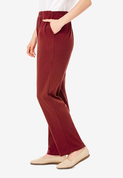 99ece84173 7-Day Knit Straight Leg Pant| Plus Size Pants | Woman Within