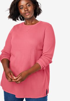 Thermal Sweatshirt, TEA ROSE