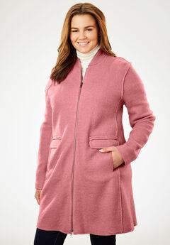 Lightweight Wool Zip Jacket, DESERT ROSE