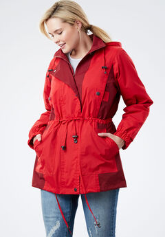 Colorblocked Taslon® Anorak,