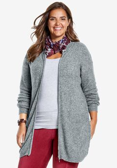 Wool-blend Bomber Jacket, MEDIUM HEATHER GREY, hi-res