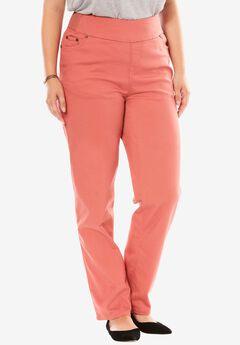 Straight Leg Smooth Waist Jean, STRAWBERRY ROSE, hi-res