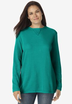 Thermal Sweatshirt, BRILLIANT JADE