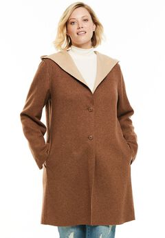 Double-Faced Wool-Blend Coat, SOFT BROWN NEW KHAKI, hi-res