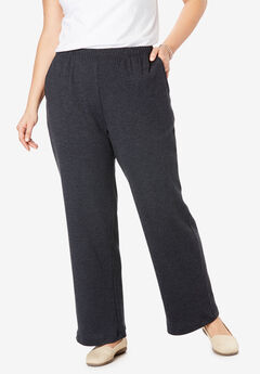 7-Day Knit Wide Leg Pant, HEATHER CHARCOAL