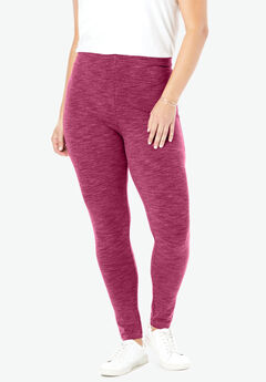 Marled Stretch Legging,