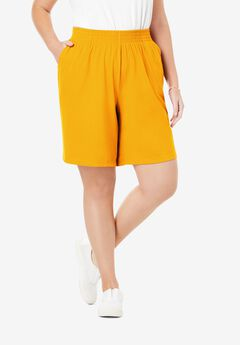Jersey Knit Short, BRIGHT GOLD