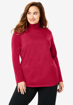 EveryWear Essentials Long Sleeve Turtleneck Tee,