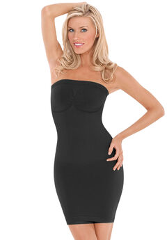 Léger Ultra Light Strapless Dress Shaper by Julie France, BLACK, hi-res