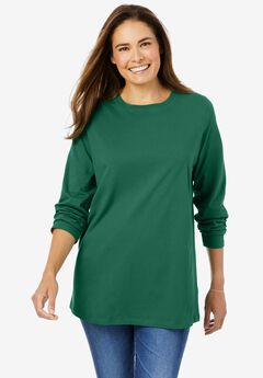 Perfect Long-Sleeve Crewneck Tee,