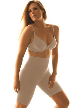 Seamless Long-Leg Shaper by Secret Solutions® Curvewear, NUDE, hi-res