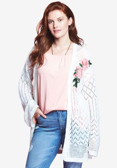 Floral Patch Cardigan by Chelsea Studio®,