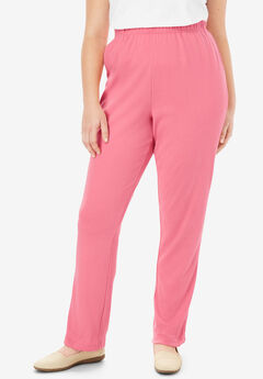 7-Day Knit Straight Leg Pant, ROSE MAUVE