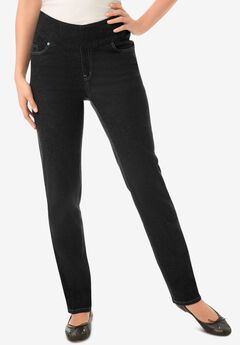 Pull-On Straight Leg Denim,