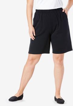7-Day Knit Short, BLACK