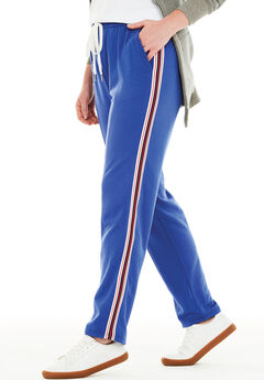 Front-Seam Fleece Pant, ULTRA BLUE STRIPE, hi-res
