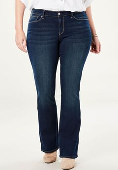 Signature by Levi Strauss & Co.™ Gold Label Womens Plus Curvy Boot Cut Jeans, REV UP