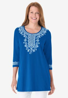 Woman Within® Tunic with Applique,