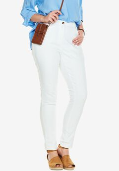 Stretch Skinny Jean, WHITE, hi-res