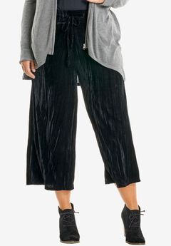 Velour Culottes, BLACK, hi-res