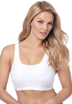 Firm Impact Motion Control Active Bra by Glamorise®, WHITE, hi-res