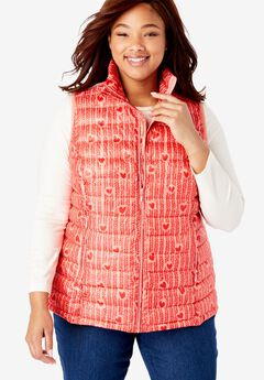 Packable puffer vest,