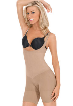 Léger Ultra Light Frontless Body Shaper by Julie France, NUDE, hi-res