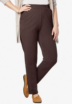 Slim Leg Relaxed Knit Pant,