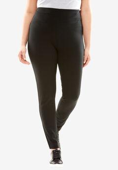 Denim Knit Legging, BLACK, hi-res