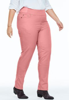 Straight Leg Smooth Waist Jean, DESERT ROSE
