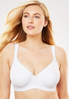 Balconette Underwire T-Shirt Bra by Leading Lady®, WHITE, hi-res