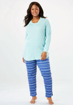 d518ee276e6 Plus Size Thermal Knit Sleepwear for Women