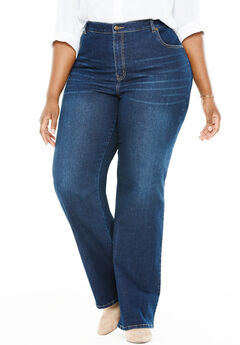 Wide Leg Stretch Jean, MIDNIGHT SANDED