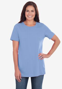 Perfect Short-Sleeve Crewneck Tee, FRENCH BLUE