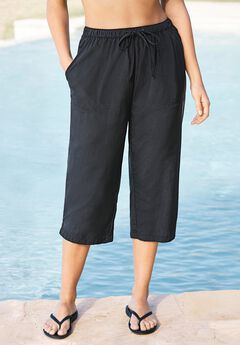 Taslon® Capri Coverup Pant by Swim 365,