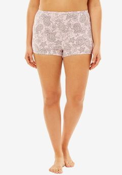 Boyshorts By Comfort Choice®, PINK PAISLEY, hi-res