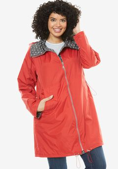 Taslon® Raincoat, HOT RED SLATE DOT, hi-res