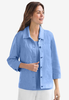 linen jacket, FRENCH BLUE