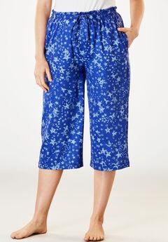 Knit Sleep Capri by Dreams & Co.®, BLUE SAPPHIRE STAR, hi-res