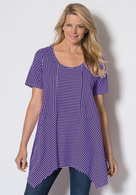 cde72e4906a Trapeze hem tunic  Plus Size Tops   Woman Within