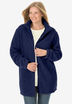 Jacket in berber fleece,