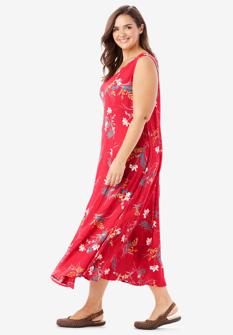745e7a94d Sleeveless Crinkle A-Line Dress| Plus Size Casual Dresses | Woman Within