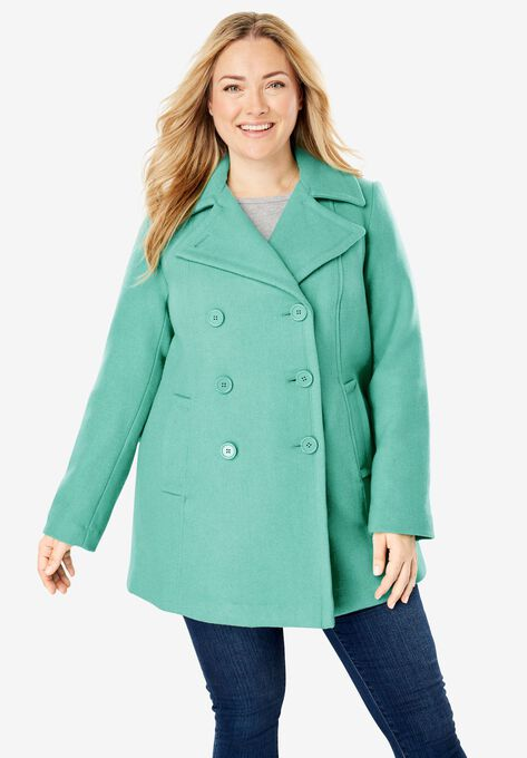 00d1bf65560 Wool-Blend Double-Breasted Peacoat