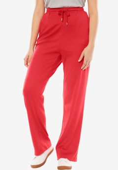 Sport Knit Straight Leg Pant, HOT RED, hi-res